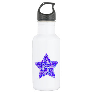 Blue and Purple Star of Stars 532 Ml Water Bottle