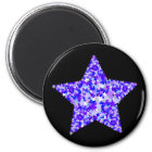 Blue and Purple Star of Stars Magnet