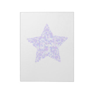 Blue and Purple Star of Stars Notepad