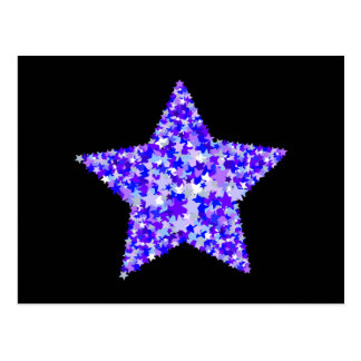 Blue and Purple Star of Stars Post Card