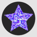 Blue and Purple Star of Stars Sticker