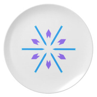 Blue and Purple Starburst Plate