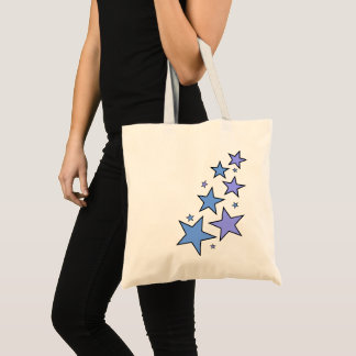 Blue and Purple Stars Tote Bag
