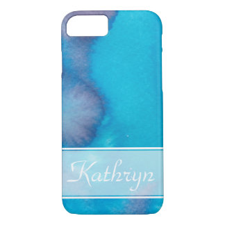 Blue and Purple Watercolor Splotch iPhone 8/7 Case