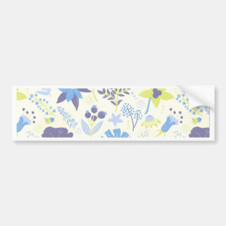 Blue and Purple Wildflowers Bumper Sticker