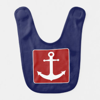 Blue and Red Anchor Bib