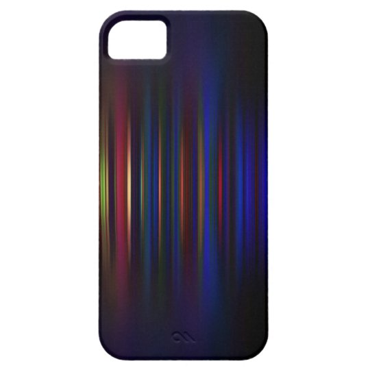 Blue and red blurred stripes pattern case for