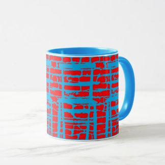 Blue And Red Brick Wall Mug