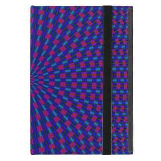 Blue and Red Geometric Circles iPad Case
