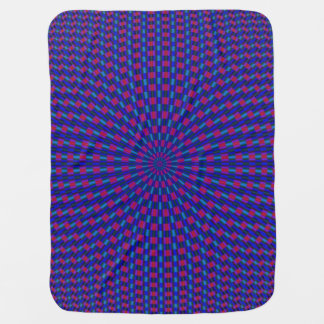 Blue and Red Geometric Circles Rings Baby Blanket