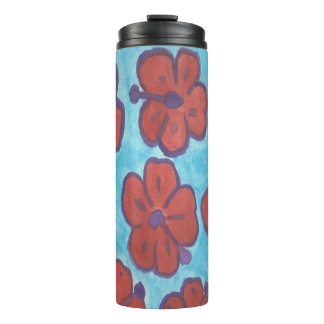 Blue and Red Hibiscus Tumbler