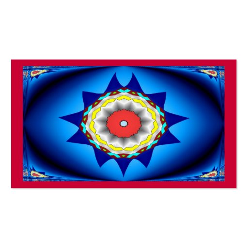 Blue And Red Kaleidoscope Business Card