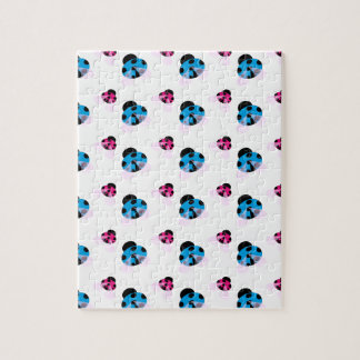 BLUE AND RED LADYBUGS JIGSAW PUZZLE