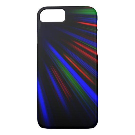Blue and red light streaks iPhone 7 case
