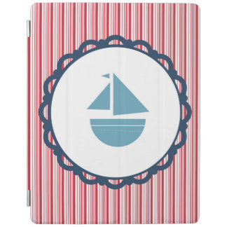 Blue and Red Nautical Ipad cover