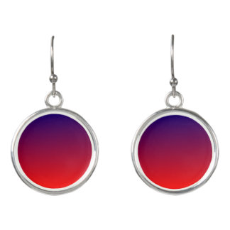 Blue and Red Ombre Earrings