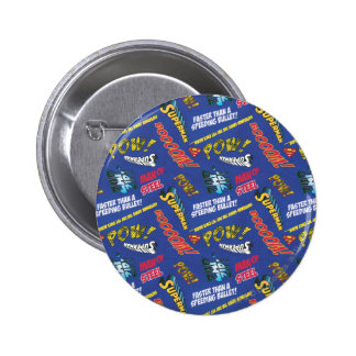 Blue and Red Pow! 6 Cm Round Badge