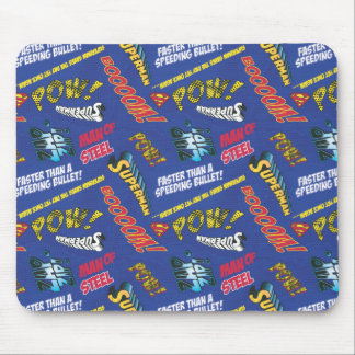 Blue and Red Pow! Mouse Pad