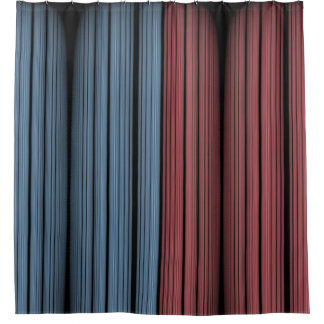 Blue and Red Rock Shower Curtain