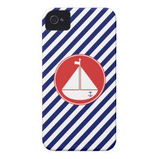 Blue and Red Sailboat iPhone 4 Cover