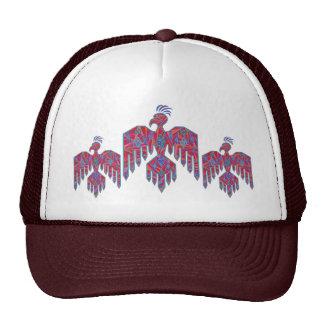 Blue And Red Southwestern Art Thunderbird Cap Hats
