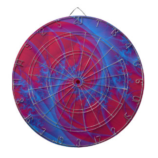 Blue and Red Spiral Dartboard