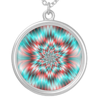 Blue and Red Star Necklace