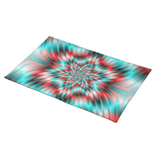 Blue and Red Star Placemats