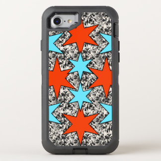 Blue and Red Star Print OtterBox Defender iPhone 7 Case