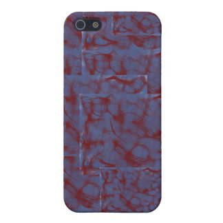 blue and red swirl blocks case for the iPhone 5