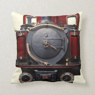 Blue And Red Train Cushion