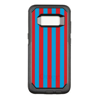 Blue and Red Vertical Stripes OtterBox Commuter Samsung Galaxy S8 Case