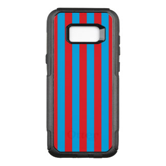 Blue and Red Vertical Stripes OtterBox Commuter Samsung Galaxy S8+ Case