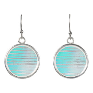 Blue and Silver Dressy Earrings