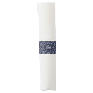 Blue and SIlver Effect 25th Anniversary Napkin Band