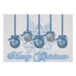 Blue and Silver Glitter Ornaments Print