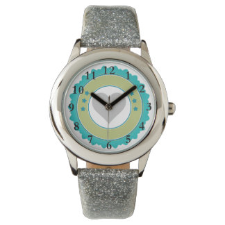 Blue and Silver Glitter Watch