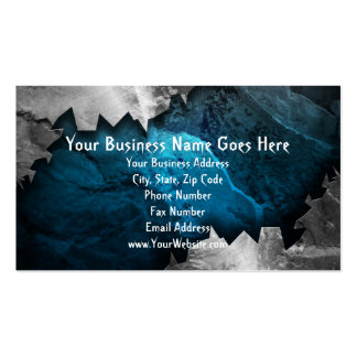 Blue and Silver Grunge Metal/Stone Design Business Cards