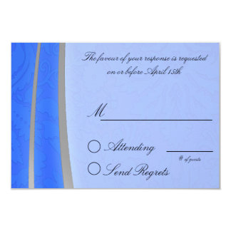 Blue and Silver Reply Card Custom Announcement