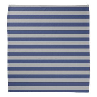 Blue and Silver Stripes Bandana