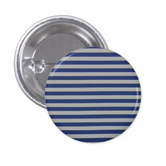 Blue and Silver Stripes Button
