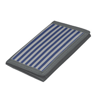 Blue and Silver Stripes Wallet