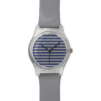 Blue and Silver Stripes Watch