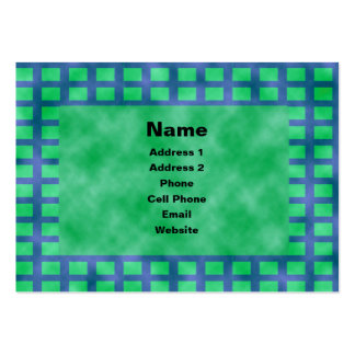 Blue and Squares Pack Of Chubby Business Cards