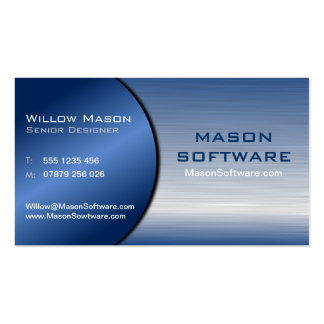 Blue and Steel Folded Technology Business Card