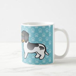 Blue And Tan Piebald Smooth Coat Dachshund Basic White Mug