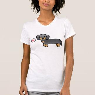 Blue And Tan Smooth Coat Dachshund Cartoon Dog T-Shirt