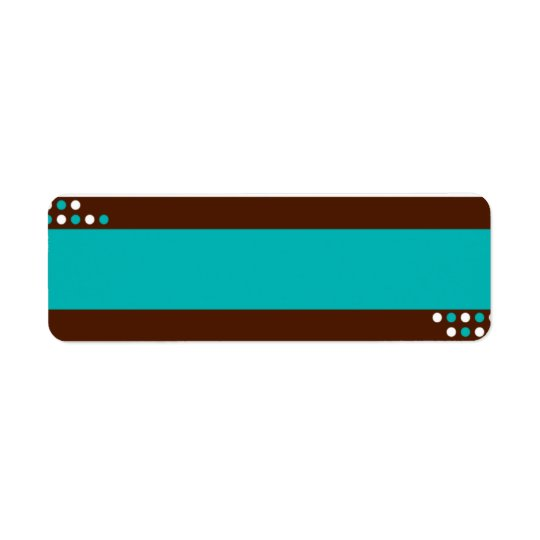 Blue and Teal Label