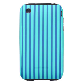 Blue and Teal Stripes iPhone 3 Tough Covers