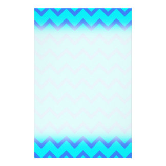 Blue and Teal Zigzag Pattern. 14 Cm X 21.5 Cm Flyer
